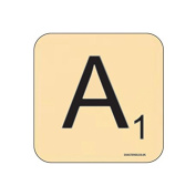 """A"" Scrabble Letter NOVELTY Coaster - Fun Word Games Themed Design"