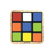 """80s PUZZLE CUBE GAME"" NOVELTY Coaster - Fun Retro Themed Design"