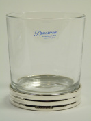 NEW - Silver & Crystal - Modern TUMBLER Glass - 9.5cm - Boxed