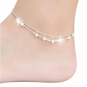 Tonsee Women's Anklet Little Star Sandal Beach Foot Jewellery
