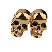 Skull Pattern Cufflinks Men's Cuff Links Birthday Gift Gold
