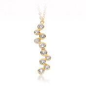 MYJS Fidelity 16k Gold Plated Bubbles Pendant Necklace with. Crystals , 17+5.1cm Extender