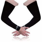 Full Force Arm Sleeves Shooters with UV Protection for Golf Basketball Football Cycling Running black