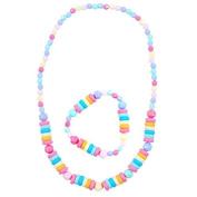 Pink Poppy Pastel Necklace and Bracelet
