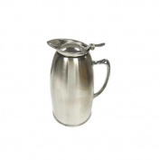 Winco VSS-508 Stainless Steel Lined Beverage Server, 590ml, Satin Finished, Set of 12