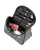 SAMGU Hot Sale Women Zebra Stripe Foldable Lady Makeup Cosmetic Container Pouch Handbag Holder Bag