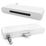 Jazooli 30 Pin to 8 Pin Audio Supported Adapter Converter Dock for iPhone 5 iPod Touch