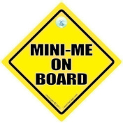 Mini-Me On Board Car Sign, Mini Me Sign, Mini-Me, Mini Me, Baby on Board Sign, Bumper Stciker, Decal, Car Sign, Baby Car Sign, Austin Powers Sign Style, Bumper Sticker, Car Signs