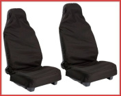 LAND ROVER DISCOVERY 3 (2004-2008) FRONT BLACK HEAVY DUTY WATERPROOF SEAT COVERS