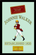 Empire Merchandising 537447 Printed Mirror with Plastic Frame with Wood Effect Featuring Johnnie Walker Whiskey Advert 20 x 30 cm