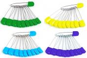 Homgaty 50pcs 5.4cm Plastic Head Safety Locking Baby Cloth Nappy Pins