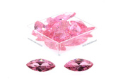 Birth Stone Jewels 15x7mm Pink Sapphire Marquise Cut Cubic Zirconia Gem Stones Pack Of 2