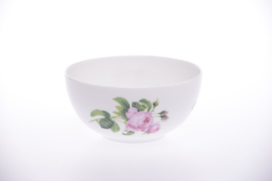 Bone China OPEN SUGAR BOWL 11.5cm diameter- PINK JUNE ROSE -Kirsty Jayne China- Hand decorated in the Potteries, Staffordshire, England.