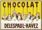 FRENCH VINTAGE METAL SIGN 20x15cm RETRO AD DELESPAUL HAVEZ CHOCOLATE