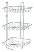 Stainless Steel 3 Tier Corner Shower Rack