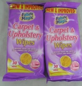 CARPET & UPHOLSTERY WIPES x 60 WIPES