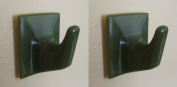 Green Adhesive Hooks - MS60-Square Shaped-Ideal For Tube or Slat Type Blind/Fly Curtain/Strip Blind