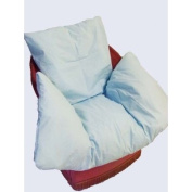 Luxury Cosy Comfort Chair Nest for Armchairs and Wheelchairs with Blue Cotton Blend Cover