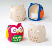 Owl Ceramic Tealight Holders Children's Porcelain Painting Crafts, Gifts