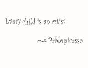 "ULATREE Wall Stickers European Children's Room ""Every Child Is An Artist"""