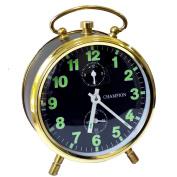 Clock Mechanical Movement Grey/Gold Metal Case
