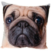 Popular Pug Dog Face Photo Print Cushion and Cover