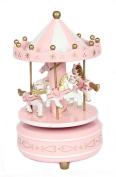 ParaCity Wooden Merry-Go-Round Carousel Classic Music Box Kids Children Girls Christmas Birthday Wedding Gift Toy