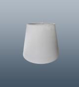 Coco 15cm White Clip On Faux Silk Lampshade