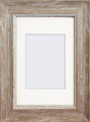 15cm x 10cm Falmouth Shabby Chic Falmouth Distressed Farmhouse Wood Effect Photo Frame With Mount