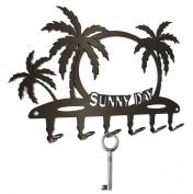 Key HOLDER Tropic & Sunshine Hook Rack - Steel, Black
