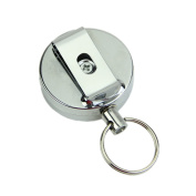 HeroNeo® Retractable Metal Card Badge Holder Steel Recoil Ring Pull Belt Clip Key Chain