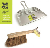 Bentley National Trust Large Aluminium Dustpan With Stiff Natural Hand Brush
