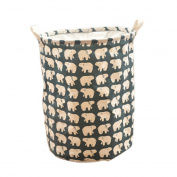 Moolecole Polar Bear Foldable Mesh Laundry Basket Folding Storage Basket Home Organiser