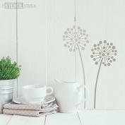 The Stencil Studio Allium Flower Stencil - Reusable Stencil - Size Small