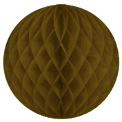 """SUNBEAUTY 3""""(8cm) Pack of 20 Tissue Paper Brown Colour Honeycomb Balls Wedding Decoration Birthday Baby Shower Bridal Shower"""