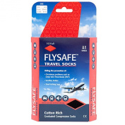 HJ747 | Flysafe Compression Travel Socks | DVT Prevention | Cotton Rich Cooling