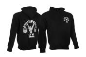 Muscle Works Gym Premium Pull Over Jumpers Top Mens Training Top With Hood MMA Boxing Gym Jumpers Black