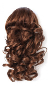 OneDor 30cm Curly Synthetic Clip In Claw Drawstring Ponytail Hair Extension Synthetic Hairpiece 115g with a jaw/claw clip