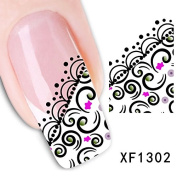 3D Nail Art Tips Stickers False Nail Design Manicure Decals Nail Art Water Nail Art Decal / Tattoo / Sticker
