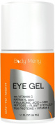 Eye Gel for Dark Circles, Puffiness, Wrinkles - Vitamin C + Matrixyl 3000 + Hyaluronic Acid + MSM + Peptides + Plant Stem Cells + More - Anti-Ageing for All Skin Types - Men and Women - 50ml - By Body Merry