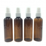 Amber/Blue PET (Plastic) Empty Spray Bottles 100ML Fine Mist Spray Atomizer - Pack of 4