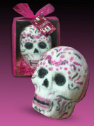 """SpaGlo® """"Day of the Dead"""" 3D Skull Head Bath Bomb Gift - Giant 300ml Size"""