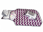 Liv and Lila Nappy Clutch - Purple & White Chevron