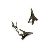 Price per 3 Pieces Antique Bronze Jewellery Making Charms Findings Supplies Q7IZ5 Eiffel Tower Clip Craft Ancient Repair Lots DIY Pendant Vintage