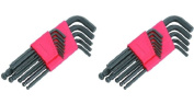 26p SAE & Metric Hex Key Allen Wrench Set Long Short Arm Ball End Point w Holder