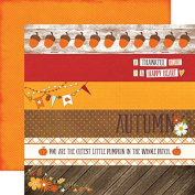 Echo Park The Story of Fall Borders Scrapbook Paper
