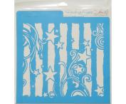 Rebecca Baer Stencil 30cm x 30cm -Stars & Stripes