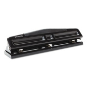 "12-Sheet Deluxe Two- and Three-Hole Adjustable Punch, 0.7cm "" Holes, Black, Sold as 1 Each"