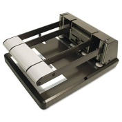 160-Sheet Capacity Xtreme Duty Adjustable Hole Punch, Antimicrobial, BK/Silver, Sold as 1 Each