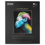 Hot Press Bright Fine Art Paper, 17 x 22, Bright White, 25 Sheets, Sold as 1 Each
